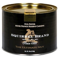 Squirrel Brand Nuts, Five-Pepper Meyer Private Reserve Cashews, 18-Ounce Can