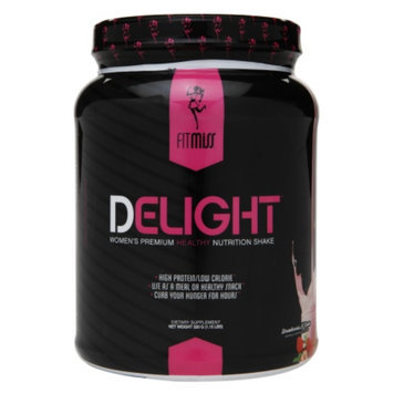 FitMiss Delight Women's Premium Healthy Nutrition Shake, Strawberries N' Cream, 1.15 lbs