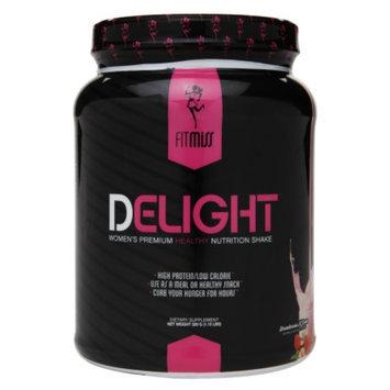 FitMiss Delight Women's Premium Healthy Nutrition Shake, Strawberries N' Cream, 1.15 lbs