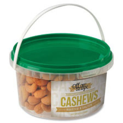 Office Snax, Inc Cashew Nuts, 15 oz, Tub