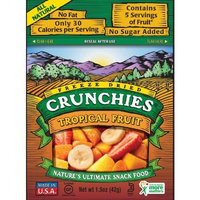 Crunchies Freeze-Dried Fruit Snack, Tropical Fruit, 1.5-Ounce Pouches (Pack of 6)