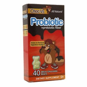 Yum-V's Choc-V's Probiotic + Prebiotic Fiber Gummies, White Chocolate, 40 ea