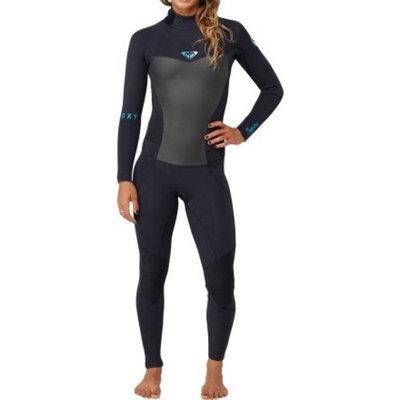 Roxy Syncro 4/3mm Wetsuit Women's Back Zip GBS - Black - 12