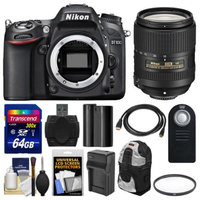 Nikon D7100 Digital SLR Camera Body with 18-300mm VR Zoom Lens + 64GB Card + Backpack + Battery/Charger + Kit