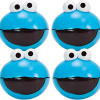 Evriholder Products (Set of 4) Sesame Street Cookie Monster Snack To Go Spheres - Easy To Open