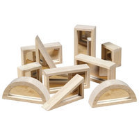 Guidecraft Mirror Blocks Set - 10 Pcs, Mirror, 1 ea