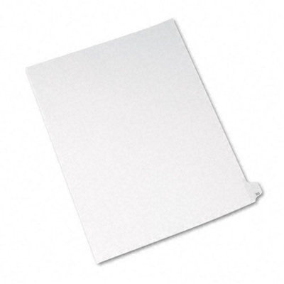 Avery Allstate-Style Legal Side Tab Divider, Title: 50, Letter, White, 25/Pack