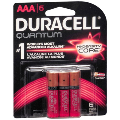Duracell Quantum Alkaline Batteries, AAA, 6 ea