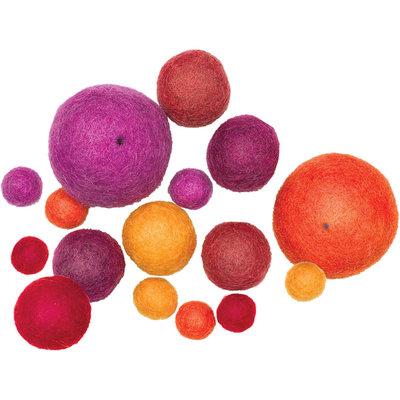 Dimensions 355421 Feltworks Balls-Warm Asst 16-Pkg