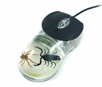 Ed Speldy East CM07 Clear Computer Mouse - Scorpion and Spider