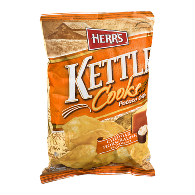Herr's Kettle Cooked Potato Chips Cheddar Horseradish Flavored
