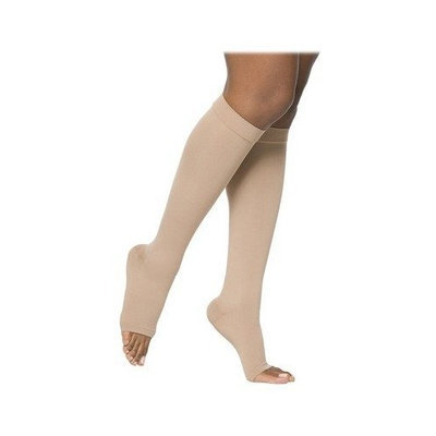 Sigvaris 860 Select Comfort Series 30-40 mmHg Open Toe Unisex Knee High Sock Size: S3, Color: Black 99