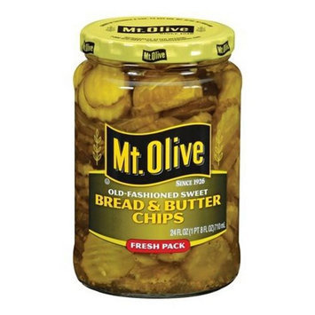 Mt Olive Pickles Old Fashioned Sweet Bread & Butter Chips 24 fl oz