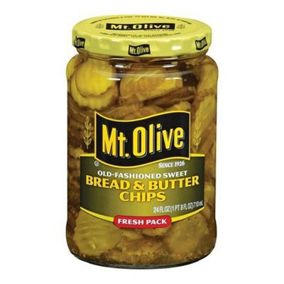 Mt Olive Pickles Old Fashioned Sweet Bread & Butter Chips 24 fl oz