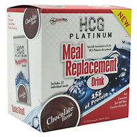 Hcg Platinum Meal Replacement Drink 12-36.5 g Packs 15.5 oz Chocolate Meal Replacements Su