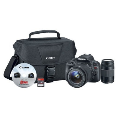 Canon EOS Rebel SL1 18MP Digital SLR Camera with 18-55mm and 75-300mm