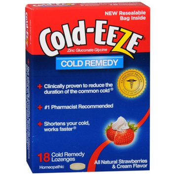 Cold-Eeze Lozenge, Strawberries & Cream, 18 ea