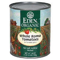Eden Organic Tomatoes, Whole Roma, 28-Ounce Cans (Pack of 12)