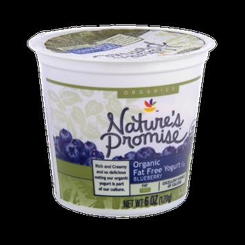 Nature's Promise Organics Organic Fat Free Blueberry Yogurt