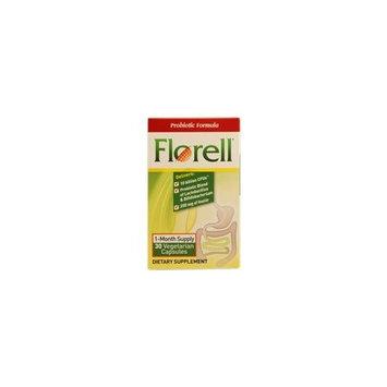 Florell Probiotic Formula -- 30 Vegetarian Capsules