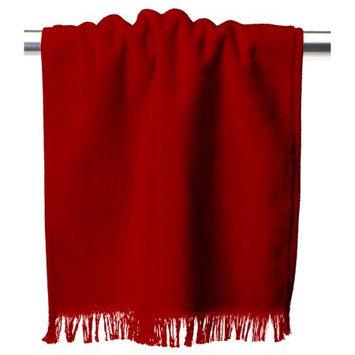 Anvil Mark Anvil T600 Fringed Fingertip Towel One Size Red