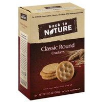Back to Nature Classic Round Crackers, 8.5 oz, (Pack of 6)
