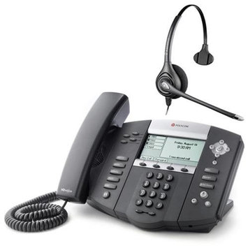 Polycom 2200-12560-001 w/ Corded Headset VoIP Corded Phone with Included Headset