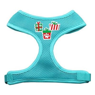 Mirage Pet Products 7019 SMAQ Presents Screen Print Soft Mesh Harness Aqua Small