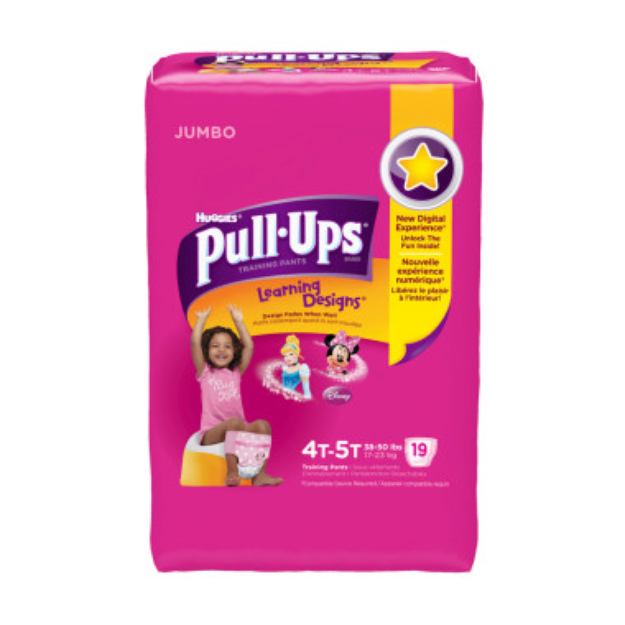 Huggies Pull-Ups Training Pants,4T - 5T, Girls, 18 ct