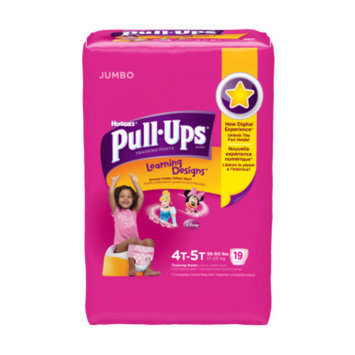 Huggies Pull-Ups Training Pants,4T - 5T, Girls, 18 ct