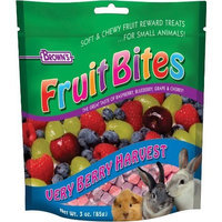 Fm Browns F.M. Brown's Fruit Bites Verry Berry Harvest Small Animal Treat, 3-Ounce