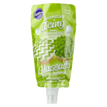 Wilton Green Icing Pouch with Tips