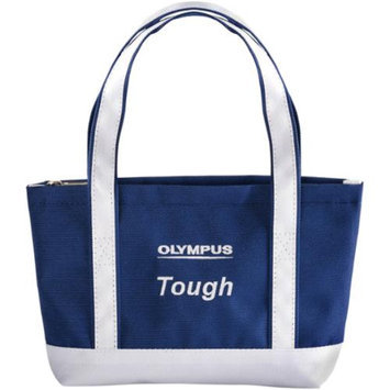 Olympus Mini Beach Bag Tough Digital Camera Case / Tote Bag (Navy/White)