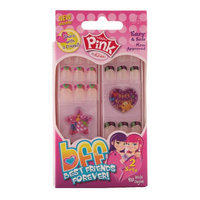 Pink by Kiss BFF Best Friends Forever Sticker Nails