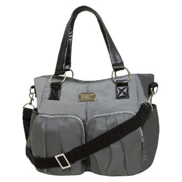 Wendy Bellissimo Shirred Pocket Tote Diaper Bag - Gray