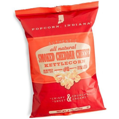 Popcorn Indiana Popcorn, Indiana Kettlecorn, Smoked Cheddar Cheese, 9-Ounce Bags (Pack of 12)
