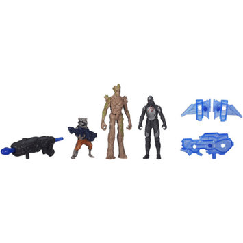 GUARDIANS OF THE GAL Marvel Guardians Of The Galaxy 3-Pack Groot, Rocket Raccoon And Sakaaran Trooper Action Figures