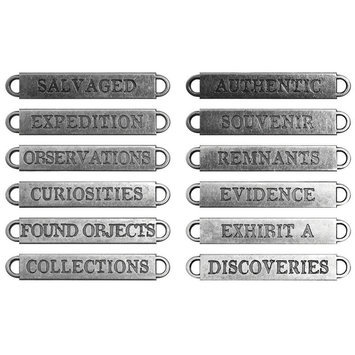 Leeco Industries Inc. Idea-Ology Metal Word Bands Antique Nickel Observations .375