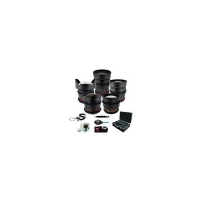 Rokinon Full Cine 5 Lens Kit - 35mm + 24mm + 14mm + 85mm + 8mm for Sony NEX E-Mo