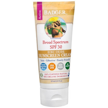 BADGER® Unscented Sunscreen