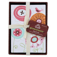 Clementine Paper Greenroom Floral Design Blank Cards with Envelopes 24-ct.