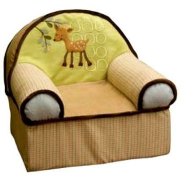 Lambs & Ivy Lambs and Ivy Enchanted Forest Slip Cover Chair, Green (Discontinued by Manufacturer)