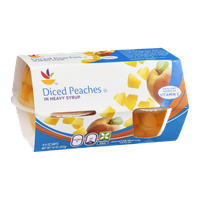 Ahold Diced Peaches in Heavy Syrup - 4 CT