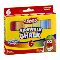 Playskool Sidewalk Chalk Assorted Colors - 6 CT