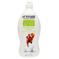 Attitude Dishwashing Liquid, Green Apple & Basilic, 23.7 fl. Oz