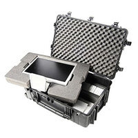 Cwr Products Pelican 1650 Case w/Padded Dividers - Black