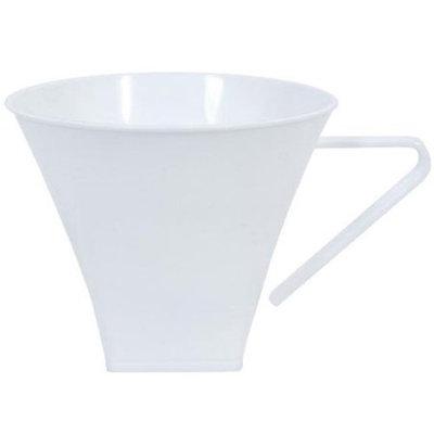 King Zak Ind Lillian Tablesettings 35980 Pearl 8Oz Plastic Flared Square Coffee Mugs - 192 Per Case