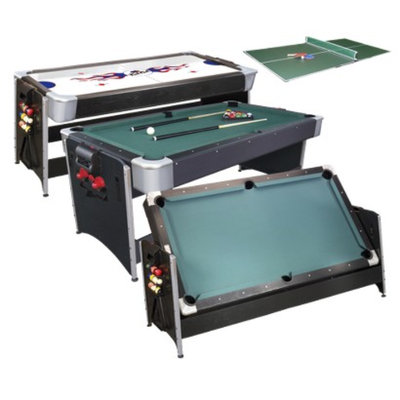 GLD Products Pockey Game Table with Table Tennis - Black