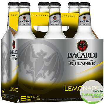 Bacardi Silver Lemonade Malt Beverage, 12 fl oz, 6 pack