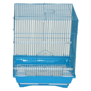 Yml Group YML Flat Top Parakeet Cage Blue